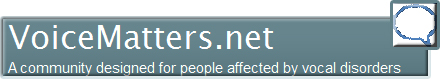 VoiceMattersnet - Social Networking Vocal Disorder Community